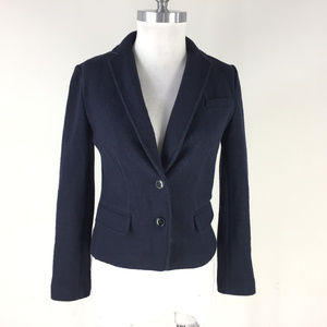 Banana Republic XS 0 Navy Blue Blazer jacket wool